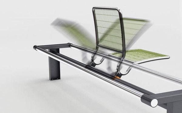 bench #steel #bench #spin #metal #green