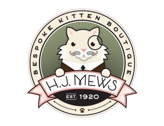 HJ Mews   Jessica Hische #logo #jessica #cat #hische