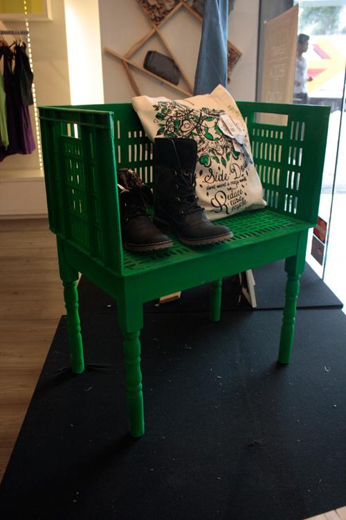 Repurposed materials furniture #basket #medellin #design #furniture #blaster #plastic #green