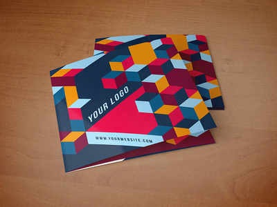 Square Cool Colorful Pattern Trifold. #inspiration #brochure #editorial #trifold #pattern #colorful #creative #template