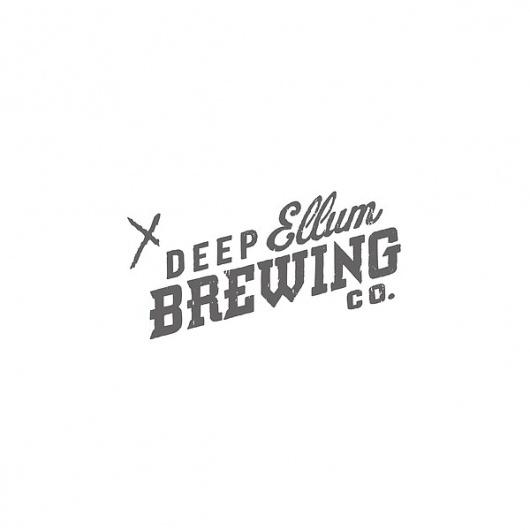 Deep Ellum Brewing Co. on the Behance Network #branding #design #graphic #identity #logo