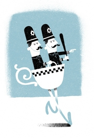 All sizes | Teacops | Flickr - Photo Sharing! #masselink #cop #leender #illustration #moustache