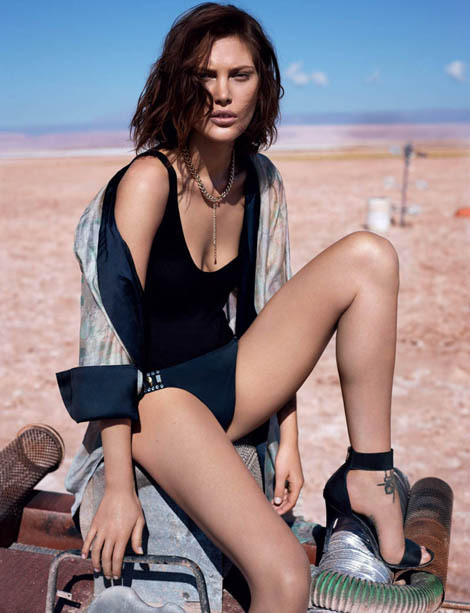 Catherine McNeil by Josh Olins for H #model #girl #look #photography #fashion #style