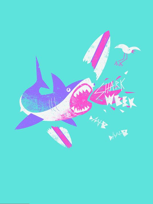 Shark Day 1, by Blake Suarez #inspiration #creative #week #design #graphic #shark #illustration