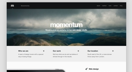 The Best Designs / Best Web Design Awards & CSS Gallery » Momentum #website #grid #minimal #typography