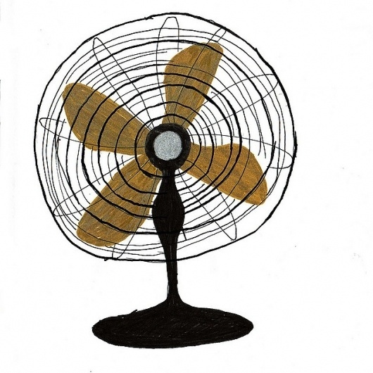 fan | Flickr: Intercambio de fotos #ventilador #aijon #verano #illustration #calor #vintage #summer #fan #jorge