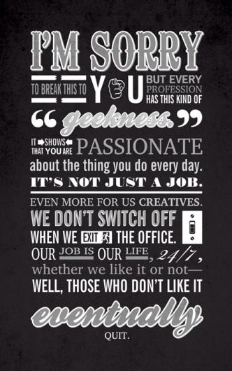 We Love Typography #passionate