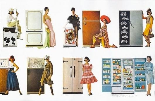 Dark Roasted Blend: Love & Romance (Vintage and Funny Pics) #illustration #refrigerator #love