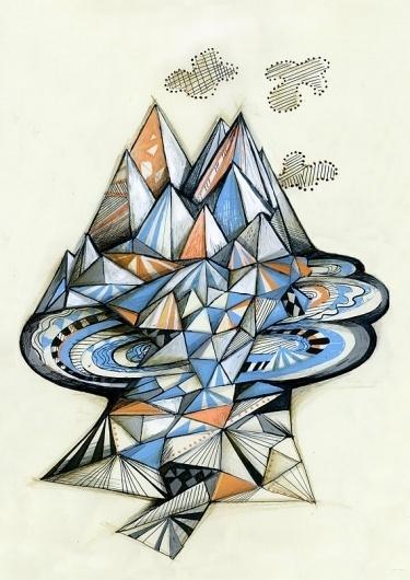 Geometric Mountain Poster by Sormeja on Etsy