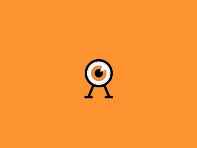 Dribbble - The all seeing OA by Fuzzco™ #carolina #icon #highlight #fuzzco #orange #eyeball #eye #symbol