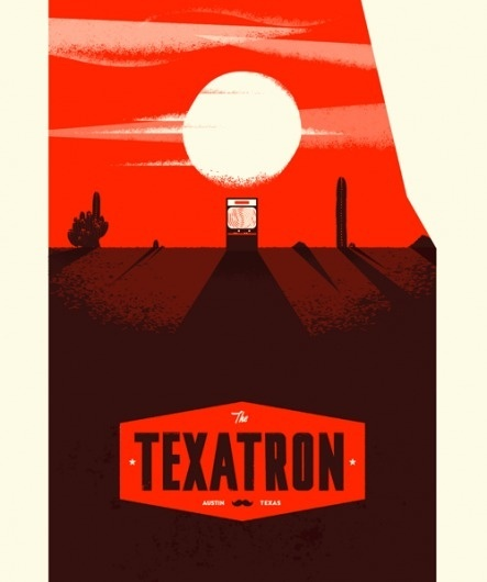 TEXATRON - Cory Schmitz #illustration #arcade