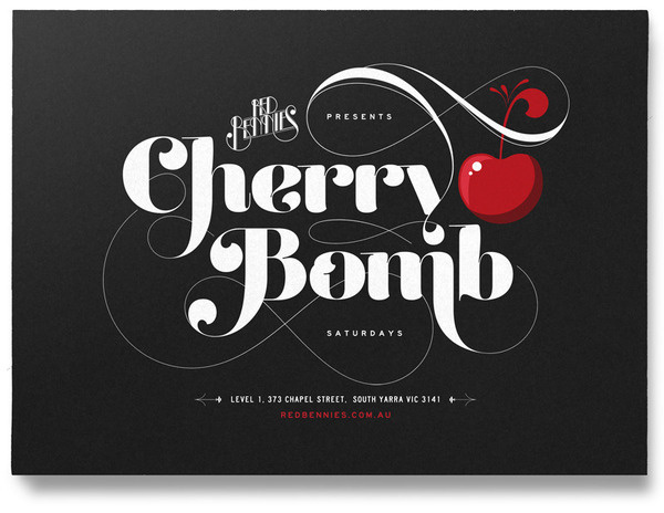 RED BENNIES Jimmy Gleeson Design #type #lettering #poster