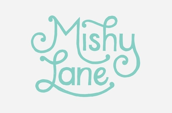 Mishy Lane Logo Design #script #logo #drawn #brandmark #type #hand