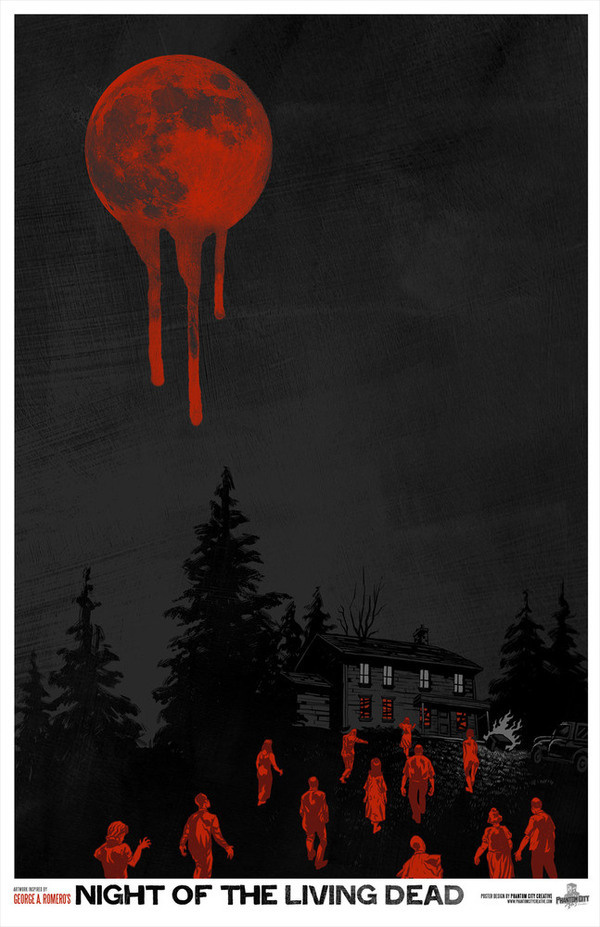 Phantom City Creative — Night of the Living Dead Limited Edition Poster #creative #phantom #city #design #of #living #the #night #illustration #poster #dead
