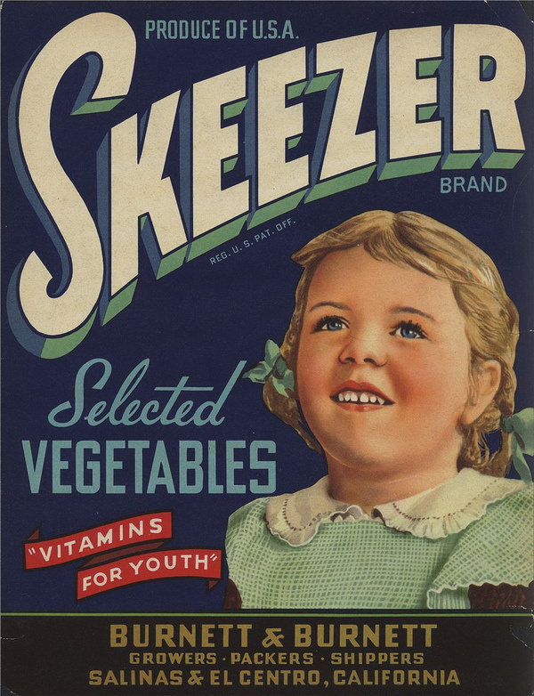 All sizes | Skeezer Selected Vegetables | Flickr Photo Sharing! #packaging #food #label #vintage #type