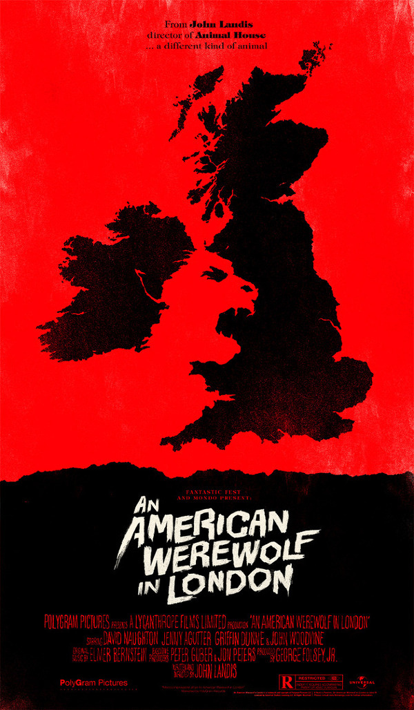 An American Werewolf in London OLLY MOSS DOT COM #movie #retro #poster