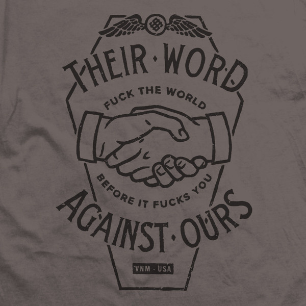 VNM — THEIR WORD SLATE #vnm #print #coffin #hands