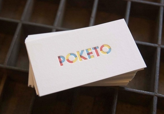 Poketo Olivia San Mateo of Olive-Route, Letterpress Printer Extraordinaire! #card #print #poketo #business
