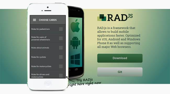 RAD.js: Cross-platform Mobile Development Framework