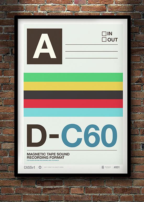Don't Forget the Cassette: Posters by Neil Stevens   Inspiration Grid   Design Inspiration #flat #print #design #clean #vintage #poster