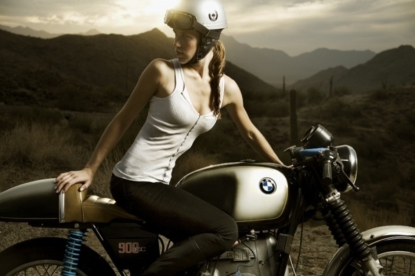 NOW AND THEN #model #motorbike #caferacer #girl #racer #photography #bike #nowandthen #motorcycle