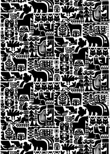 Sanna Annukka for Marimekko | Shiro to Kuro #pattern
