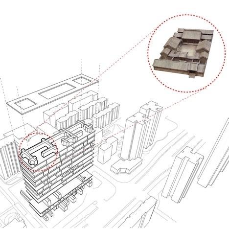 Dezeen » Blog Archive » Shelf Hotel by 3Gatti Architecture Studio #architecture