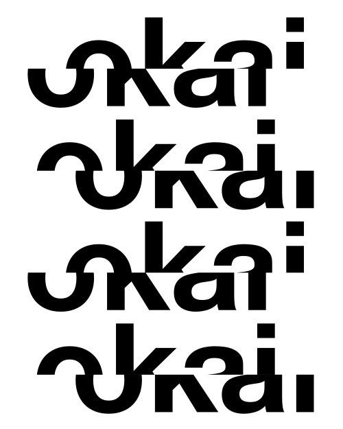 #poster #design #graphicdesign #ok #okai #black #withe #typography #type