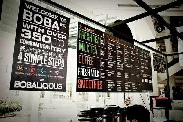 Boba #menu #typography