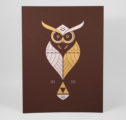 Color, Simplistic, Lines, Symmetry, geometric, #owl #bruggink #tribute #triforce #kaepora #ross #zelda
