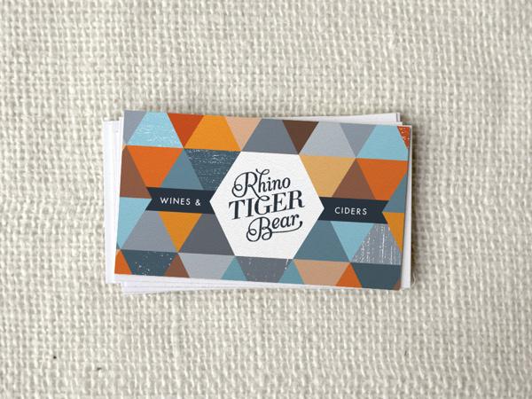 Rhino Tiger Bear on Branding Served Served #cards #identity #business