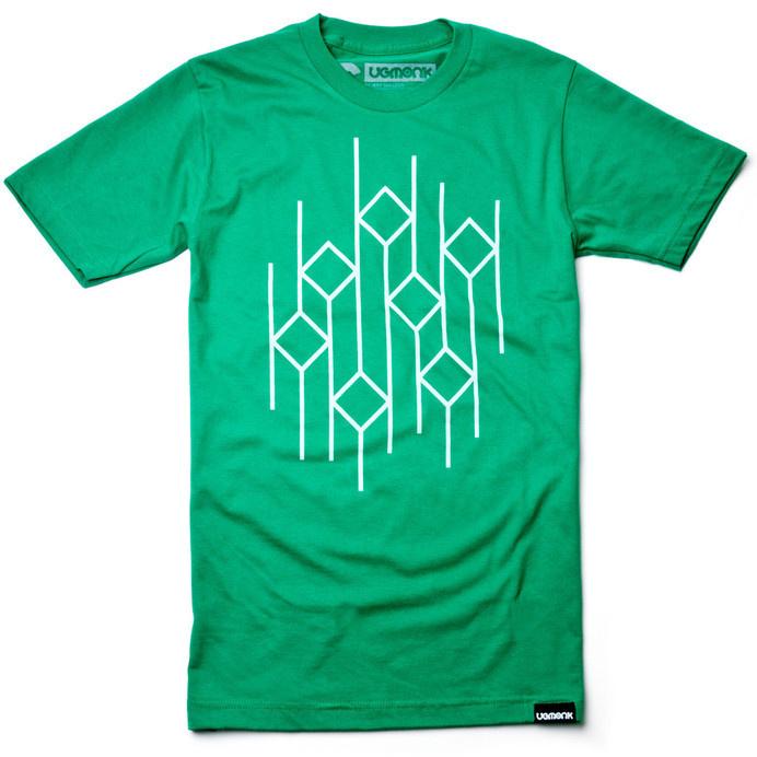 RISE AND FALL (GREEN) #clothing #lines #apparel #tshirt #geometric #minimal #fashion #green