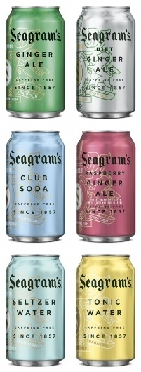 Seagram's Gingerly New Look - Brand New #packaging #ale #ginger #cans