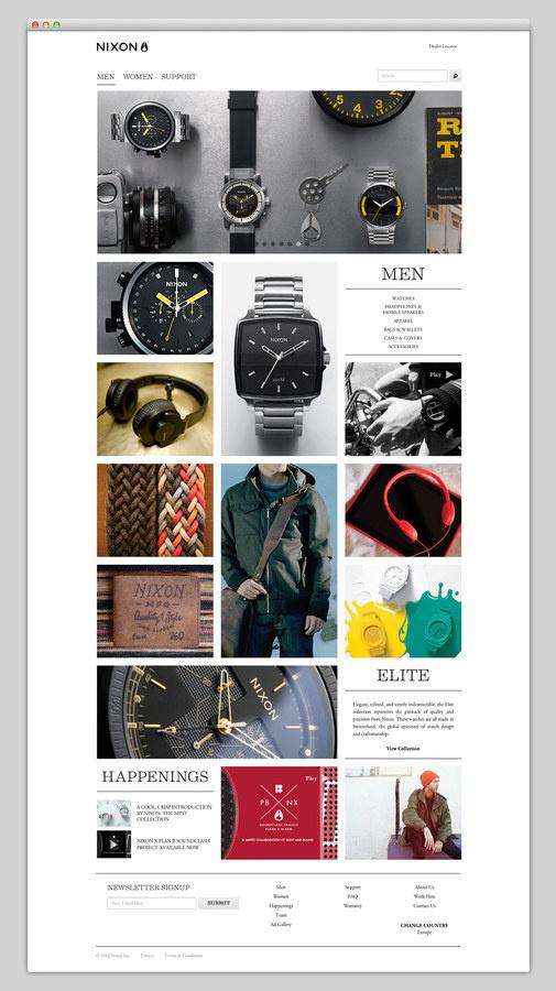 Nixon #website #layout #design #web