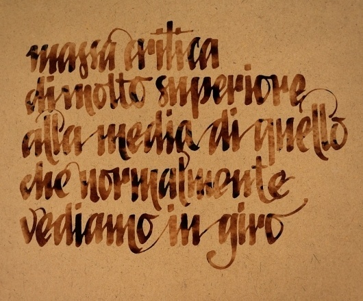 Typedesign - outofoffice #calligraphy #watercolor #ink #typedesign