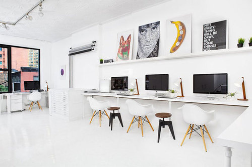White Office #interior #office #white #chairs