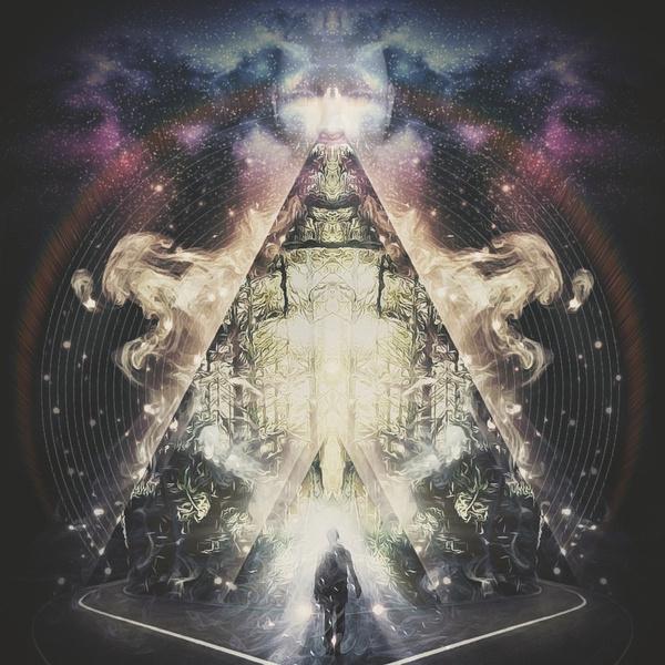 Triangle Escape Art Print #smoke #space #triangle #minds #fantastic