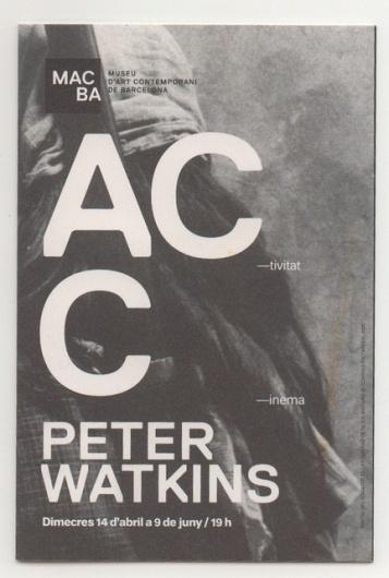 macba. peter watkins program. - Image Board: snsouthwick #photography #typography