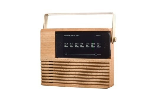 Wood Radio Dock for iPhone 4 and 5 #radio #accessories #office #home #wood #iphone #dock
