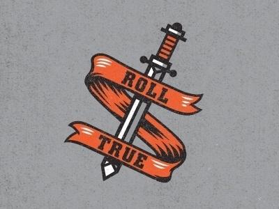 Dribbble - sword & banner by Kendrick Kidd #illustration #banner #sword
