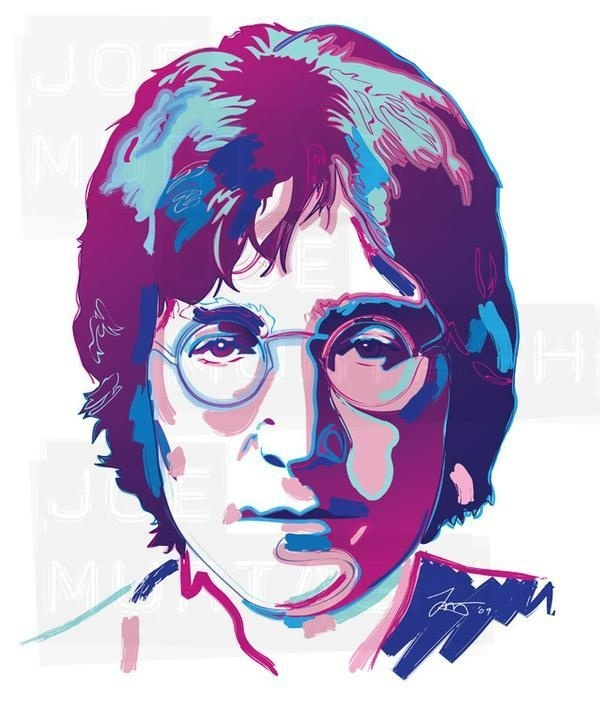Joe Murtagh Vector Illustrations - John Lennon #graphics #vector #illustrations #lennon