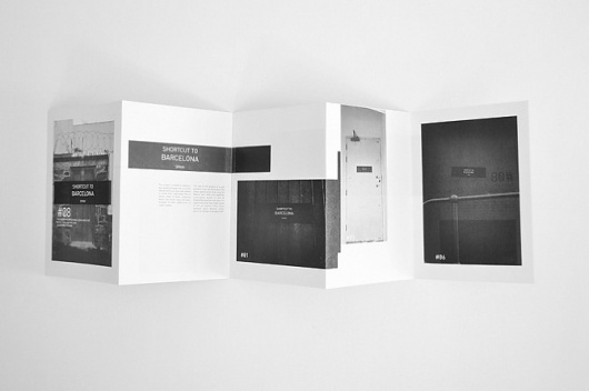 Jack Walsh #fold #foldout #shortcut #white #black #to #barcelona #and #layout #booklet #editorial
