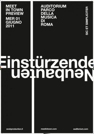 GIANDOMENICO CARPENTIERI #gdc #neubauten #bla #poster #einsturzende #typography