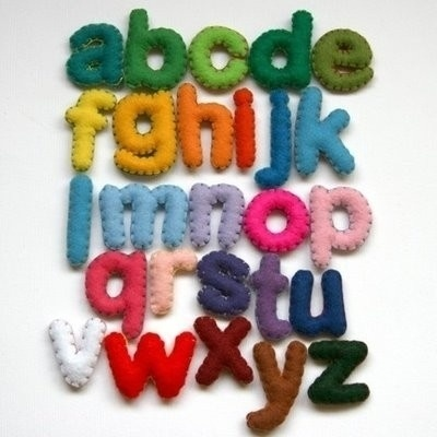 illustration,object,typography,alphabet,felt,alphabet,rainbow-2b875b4d3e72e3739b4eacbfa74f37fe_h.jpg (JPEG Image, 400 × 400 pixels) #type #design #graphic #typography