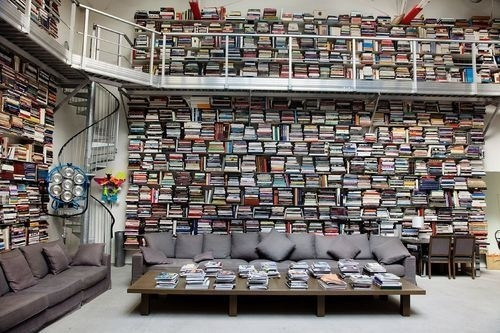 CJWHO ™ (Let's All Marvel At Karl Lagerfeld's Chic and...) #paris #karl #design #books #interiors #chic #library #lagerfeld