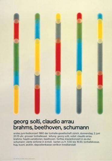 Visual Kontakt - Design, Fashion, Photography, Architecture, Illustration and Typography: Josef Müller-Brockmann: Design #brockmann #swiss #grids #design #bars #poster #colour #mller #josef #typography