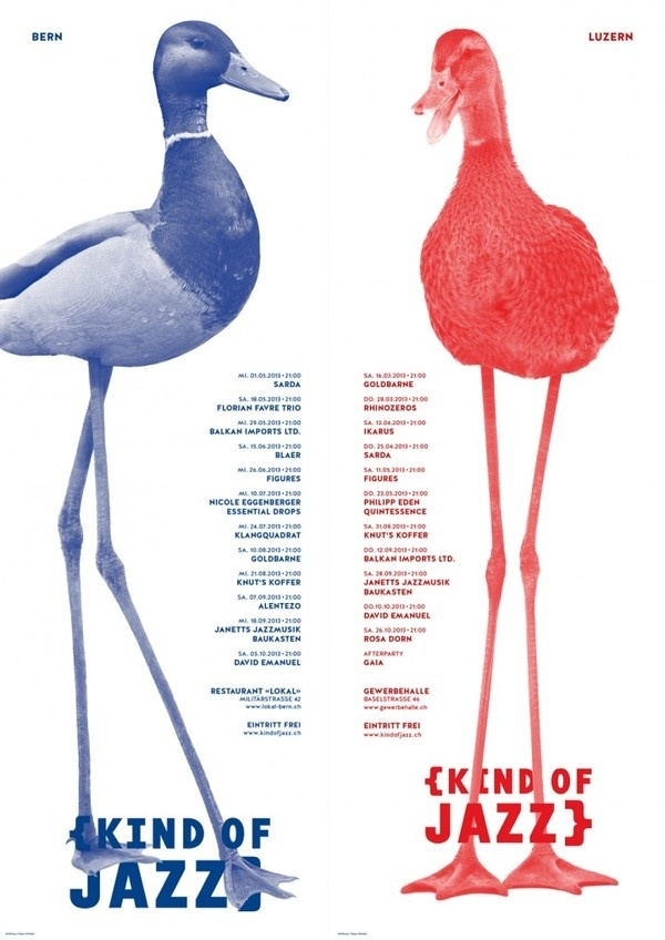 Jazz Plakat #graphic design #swiss #kind of jazz #poster kaspar allenbach