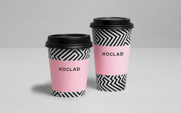Xoclad #cups #pattern #anagrama #branding #identity #coffee
