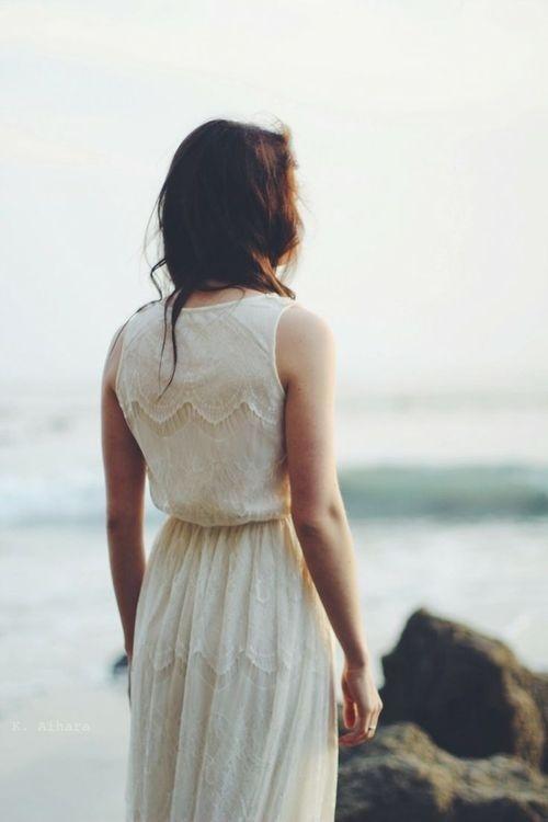 Likes | Tumblr #sea #white #dress #girl