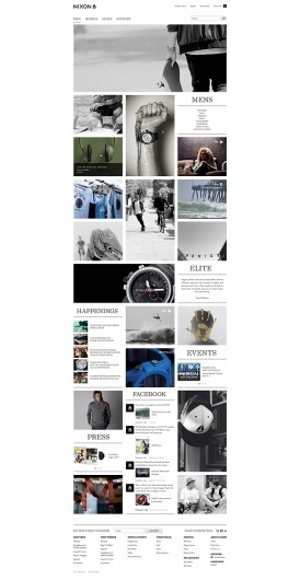 NIXON.com on the Behance Network #inspiration #grid #layout #cool